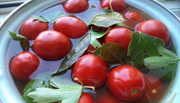 помидоры с уксусом
