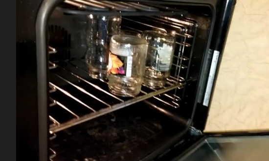банки в духовке плиты