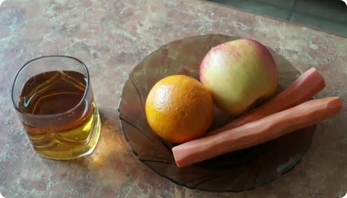 смузи яблоко с апельсином