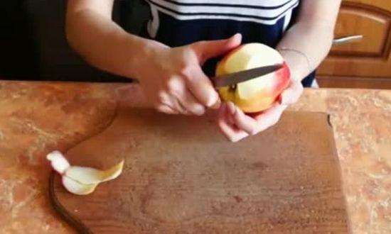 измельчаем яблоко