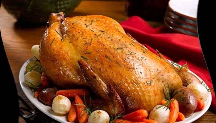 курица целиком с хрустящей корочкой