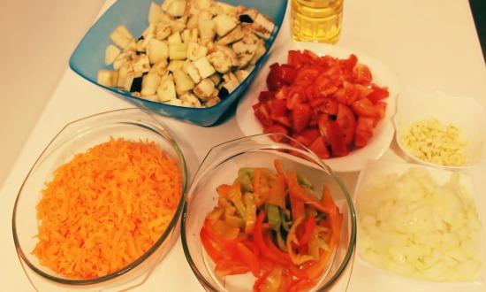 почистим и измельчим овощи