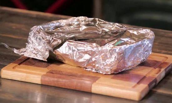 вынимаем блюдо из духовки