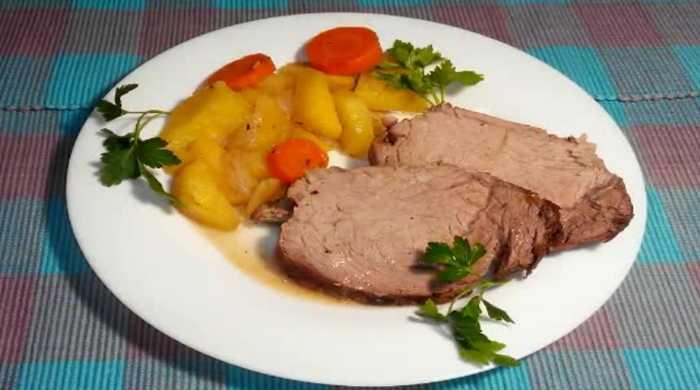 говядина с картофелем в духовке