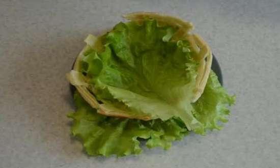 украшаем корзинку для салата