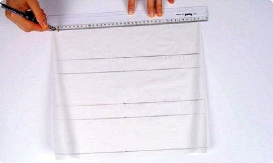 делаем разметку на бумаге