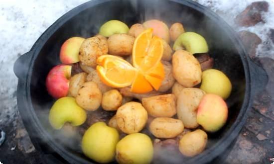 добавляем апельсин