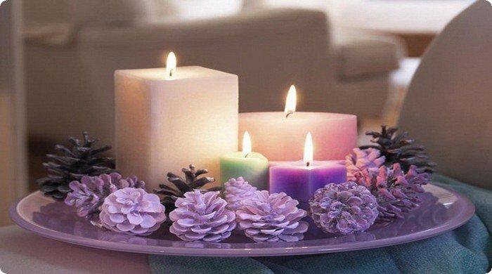красивые новогодние свечи