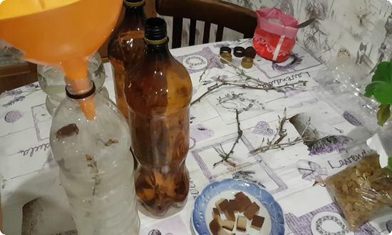 нальем в бутылку чистый сок