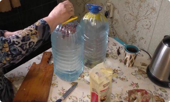 ингредиенты засыпаем в профильтрованный березовый сок