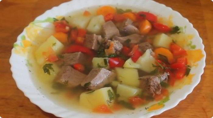 очень вкусный суп из говядины в мультиварке