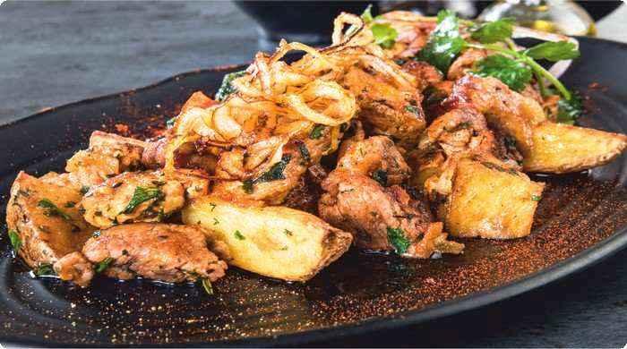 жаркое в духовке с картошкой