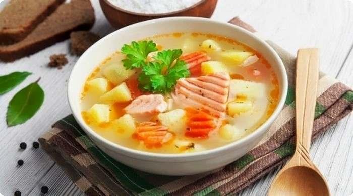 Вкусный рыбный суп из красной рыбы