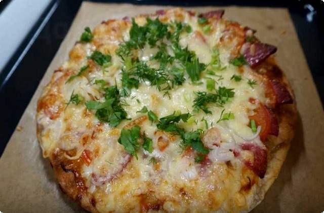пицца из толстого лаваша