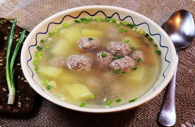 классический рецепт супа с фрикадельками
