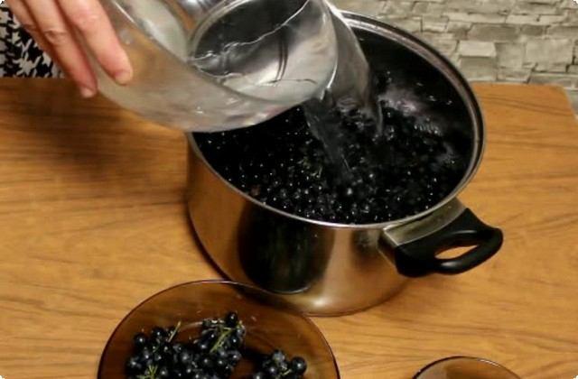 заливаем ягоды водой