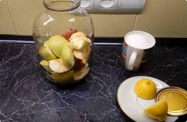 накладываем яблоки