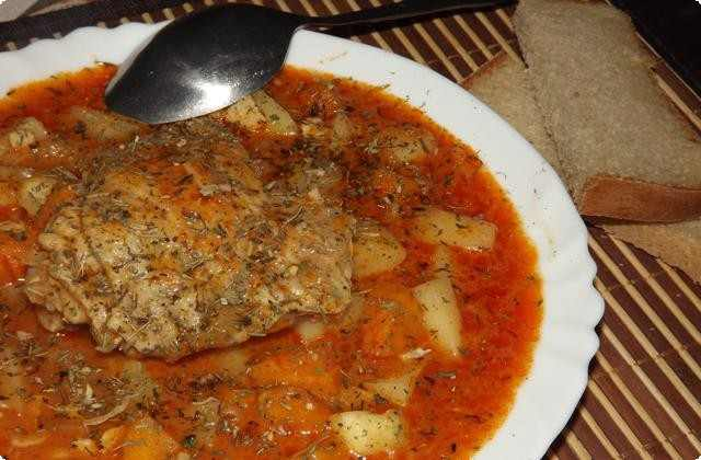 овощное рагу с курицей