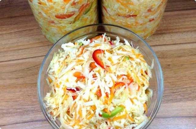классический рецепт салата из капусты на зиму