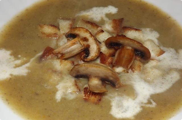 суп-пюре со сливками и картошкой