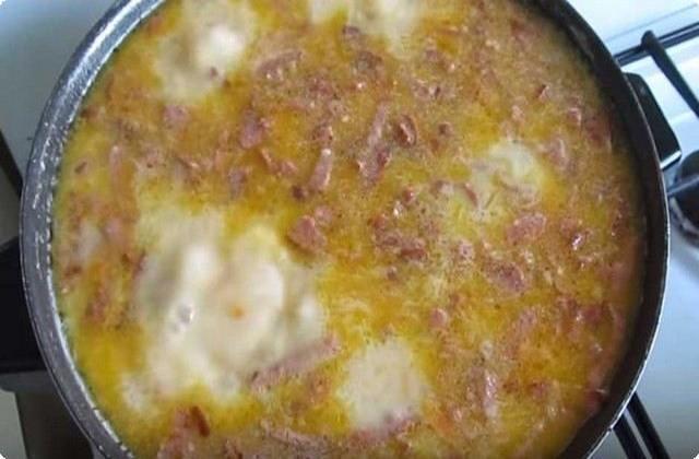 добавив сыр, варим суп