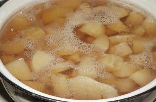 Картошку почистим, отварим