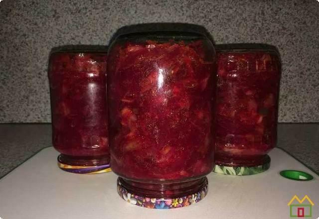 Заправка для борща на зиму с капустой, свеклой и томатной пастой