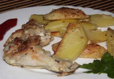 куриные крылышки с картошкой