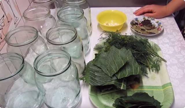 подготавливаем тару и ингредиенты