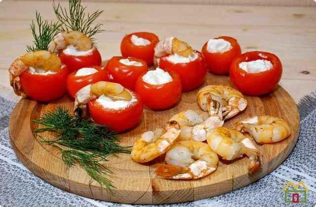 новогодняя закуска с помидорами